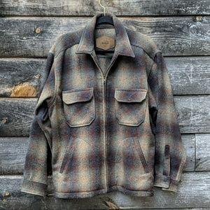 Vintage Woolrich Zip Front Heavyweight Flannel